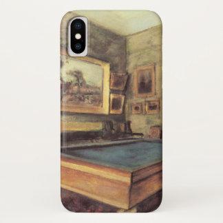 Funda Para iPhone X El cuarto de billar en Menil Huberto de Edgar