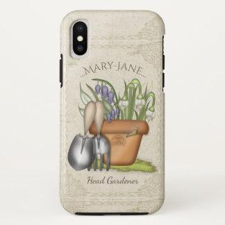 Funda Para iPhone X El cultivar un huerto lindo de la primavera