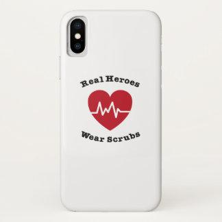 Funda Para iPhone X El desgaste real de los héroes friega el regalo