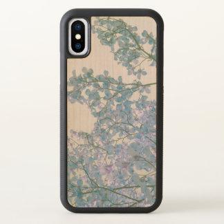 Funda Para iPhone X El Dogwood florece arte teñido lavanda púrpura de