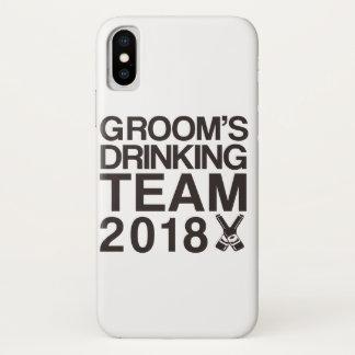 Funda Para iPhone X El equipo de consumición 2018 del novio