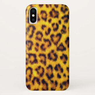 Funda Para iPhone X El falso leopardo exótico mancha el estampado de