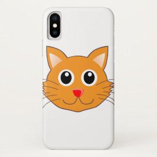 Funda Para iPhone X El gato anaranjado con la nariz roja