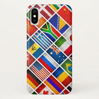 Funda Para iPhone X El mundo señala la caja de Iphone por medio de una