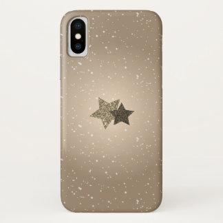 Funda Para iPhone X El purpurina radiante del oro protagoniza el caso