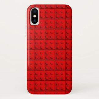 Funda Para iPhone X El rojo bloquea el modelo