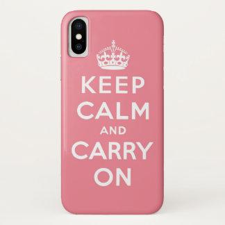 Funda Para iPhone X El rosa y el blanco guardan calma y continúan