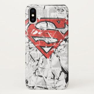 Funda Para iPhone X El superhombre Stylized el logotipo cómico