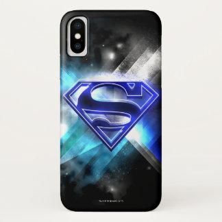 Funda Para iPhone X El superhombre Stylized el logotipo cristalino
