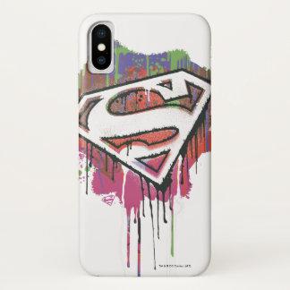 Funda Para iPhone X El superhombre Stylized el logotipo torcido el |