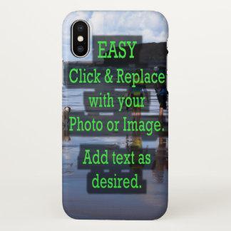 Funda Para iPhone X El tecleo fácil y substituye la foto para crear