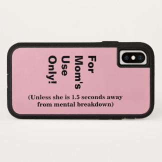 Funda Para iPhone X El uso de la mamá solamente