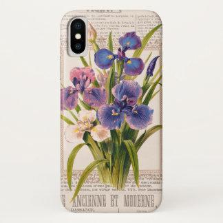 Funda Para iPhone X El vintage irisa el collage antiguo y Moderne