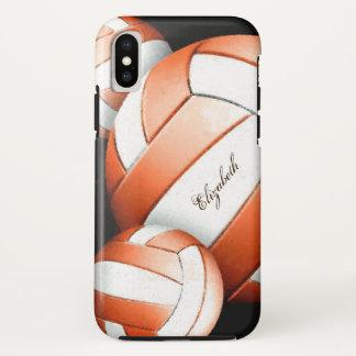 Funda Para iPhone X El voleibol artsy de las mujeres personalizadas