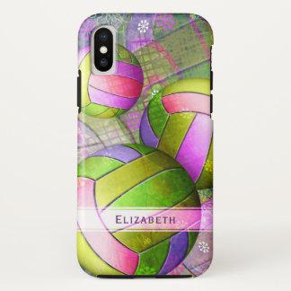 Funda Para iPhone X el voleibol de las mujeres personalizadas cal