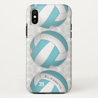 Funda Para iPhone X el voleibol de las mujeres personalizadas color de