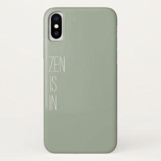 """Funda Para iPhone X El """"zen está en"""" caso del teléfono"""
