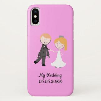 Funda Para iPhone X equipo del boda del novio de la novia