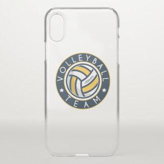 Funda Para iPhone X Equipo del voleibol. Nombre de encargo del jugador