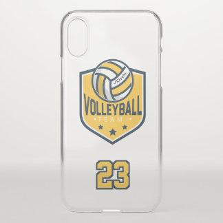 Funda Para iPhone X Equipo del voleibol. Nombre y número de encargo