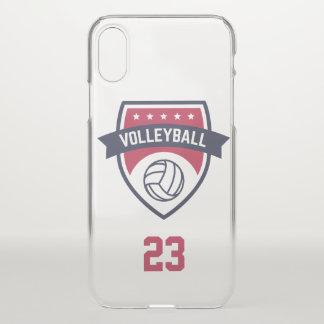Funda Para iPhone X Equipo del voleibol. Número de encargo del jugador