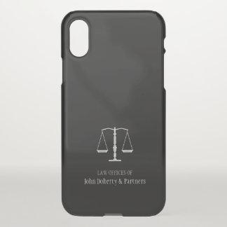 Funda Para iPhone X Escalas elegantes del abogado de la justicia el  