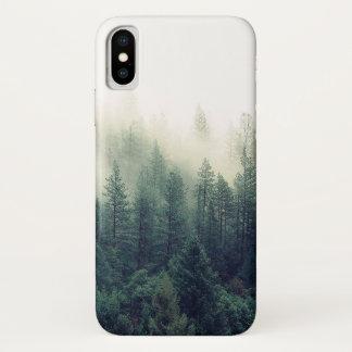 Funda Para iPhone X Escena del bosque que calma