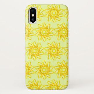 Funda Para iPhone X Espirales del oro