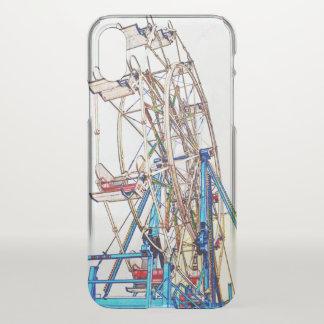 Funda Para iPhone X Esquema de la Rueda-Tiza de Ferris de Shirley