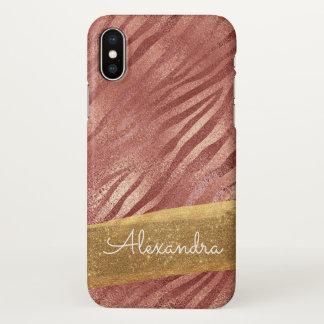 Funda Para iPhone X Estampado de animales color de rosa del rosa del