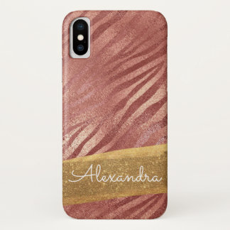 Funda Para iPhone X Estampado de animales color de rosa del rosa del