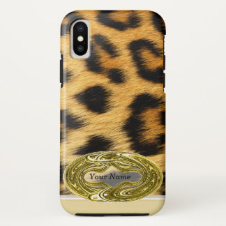 Funda Para iPhone X Estampado de animales de la piel del leopardo