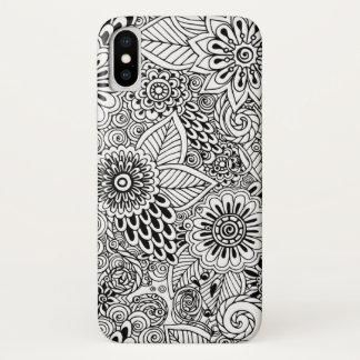 Funda Para iPhone X estampado de flores elegante de la mandala