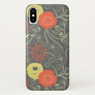Funda Para iPhone X Estampado de flores retro 3