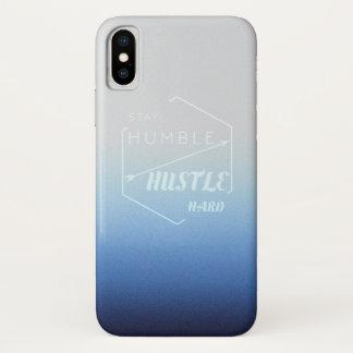 Funda Para iPhone X Estancia humilde y prisa dura