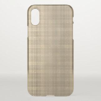 Funda Para iPhone X Estilo de la tela escocesa de tartán de Brown del