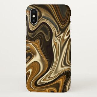 Funda Para iPhone X Estilo de mármol magnífico - marrón caliente