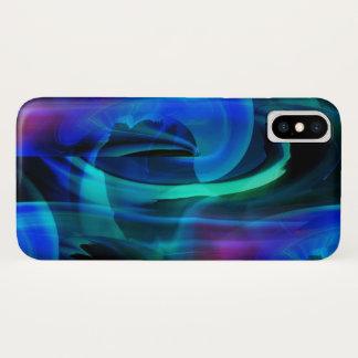 Funda Para iPhone X Extracto azul de la explosión del planeta