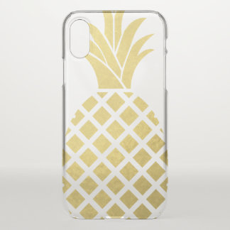 Funda Para iPhone X Falsa piña del oro