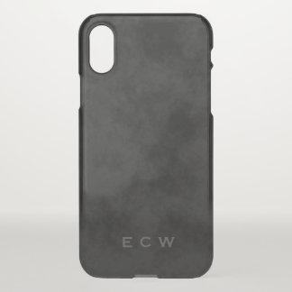 Funda Para iPhone X Falso iPhone negro abigarrado sellado 7