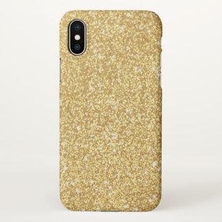 Funda Para iPhone X Falso purpurina de lujo elegante elegante del oro