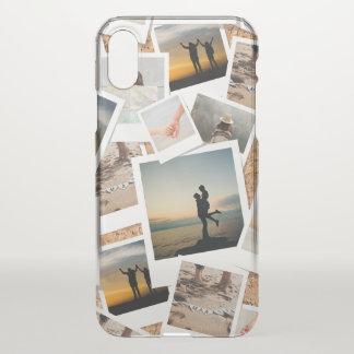Funda Para iPhone X Falso tablero de la foto del corcho de memorias