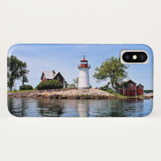 Funda Para iPhone X Faro de la isla de la cruce, caso del iPhone de NY