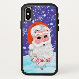 """Funda Para iPhone X Felices Navidad lindas de """"Papá Noel y de las"""