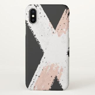 Funda Para iPhone X Final mate del cepillo del extracto del caso