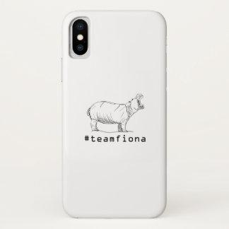 Funda Para iPhone X Fiona el Hippopotamus del #teamfiona del