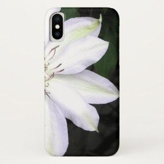 Funda Para iPhone X Flor blanca del Clematis