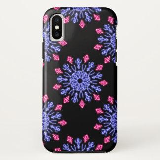 Funda Para iPhone X Flor de neón azul y roja