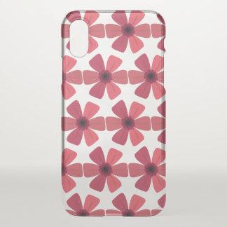 Funda Para iPhone X Floración del rojo del geranio