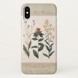 Funda Para iPhone X Floral alemán de la antigüedad de los Wildflowers